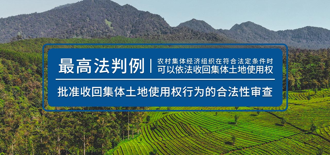 最高法判例:批准收回集体土地使用权行为的合法性审查